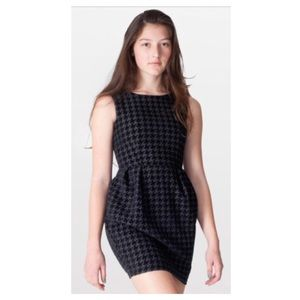 American Apparel black textured houndstooth dress